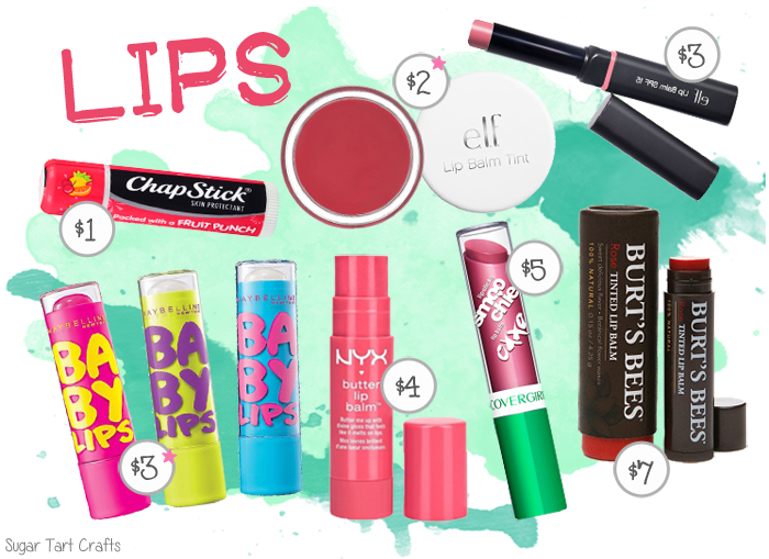 My favorite affordable makeup: lip balms