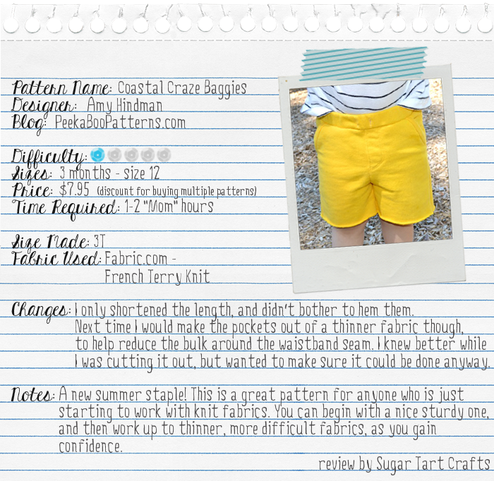 Peek-a-Boo Patterns: Coastal Baggies review by Sugar Tart Crafts