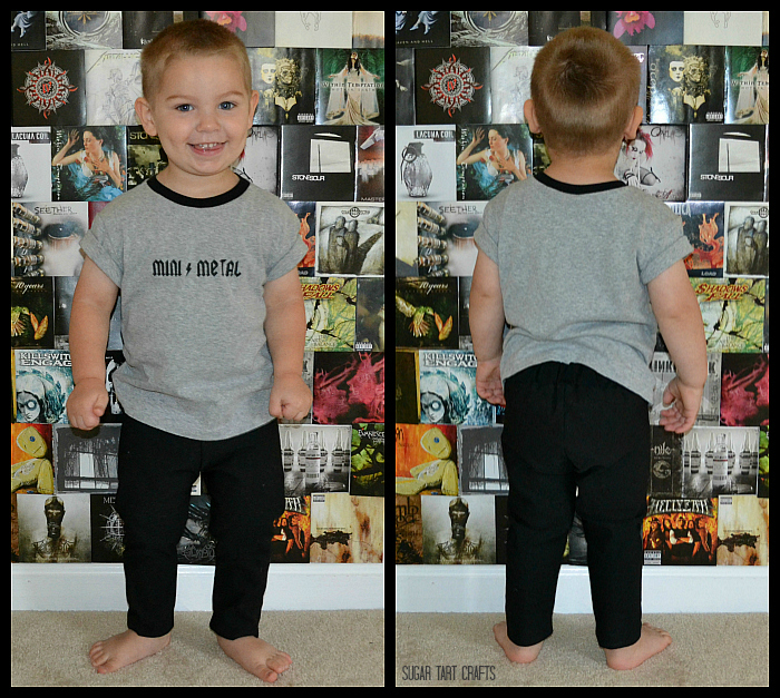 Ringer Tee &Hosh Pants sewn by Sugar Tart Crafts