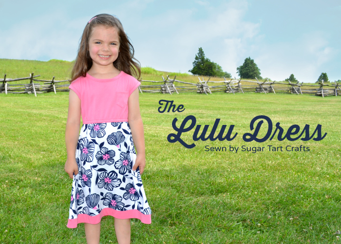 Lulu Dress designed by Craftiness is Not Optional sewn by Sugar Tart Crafts