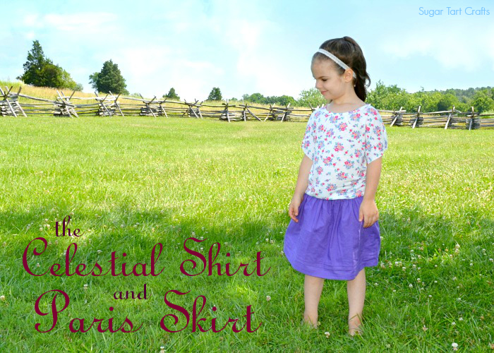 Figgy's Celestial tee & Nothing Too Fancy's Paris skirt sewn by Sugar Tart Crafts