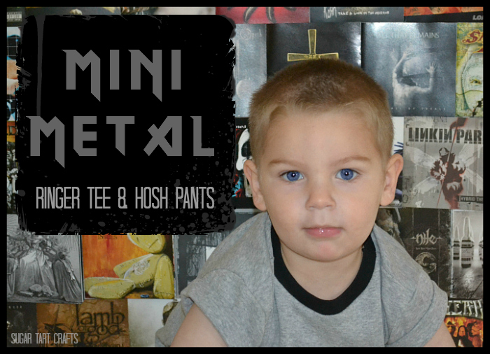 Mini Metal Outfit - Ringer tee and Hosh pants by Sugar Tart Crafts
