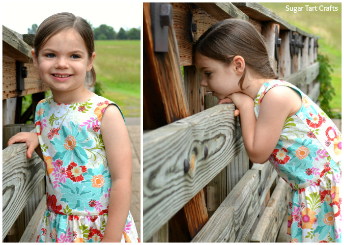 The Matinee Dress and Peplum Top by Jennuine Design sewn by Sugar Tart Crafts