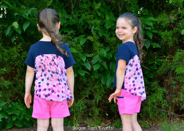 Chiffon Back Top and Sailor Shorts Patterns by Lexi Made and Peek-a-Boo Patterns