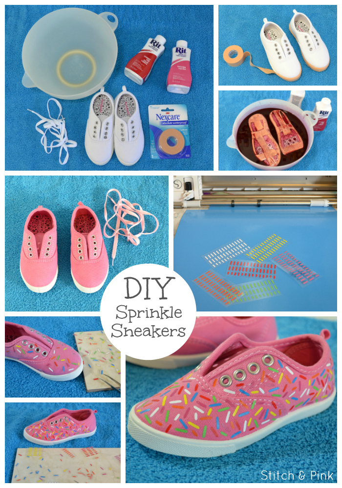 DIY Sprinkle shoes with free silhouette cut file