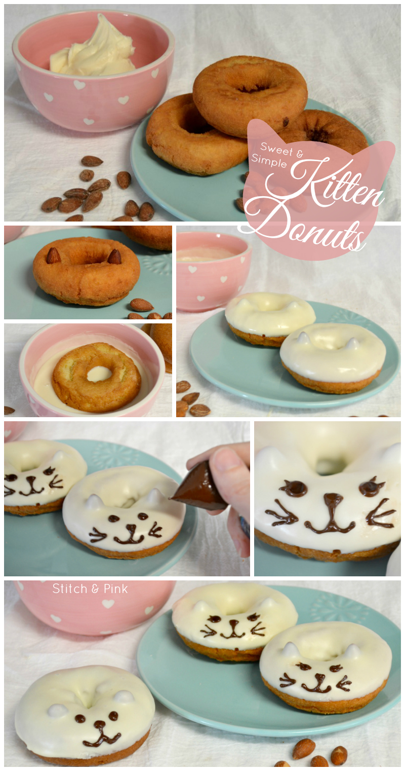 Sweet & Simple Kitten Donuts from Stitch & Pink