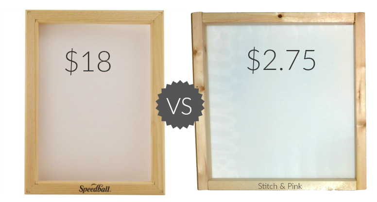 diy screen printing frames for under 3 stitch and pink