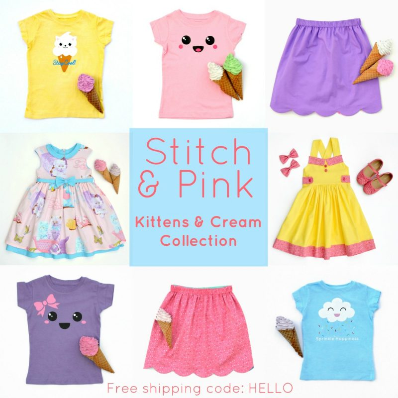 Kittens and Cream collection from Stitch & Pink