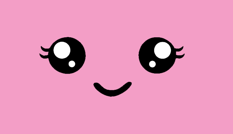 kawaii face freebie pink