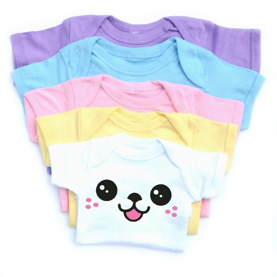 Kawaii Face Baby Onesie