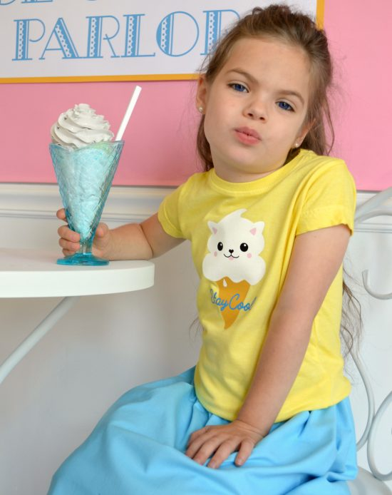 Ice Cream Kitty T-shirt from Stitch & Pink