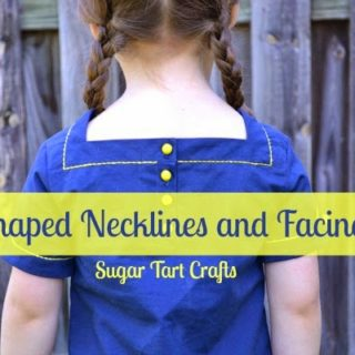 How to change the shape of a neckline and draft a matching facing.