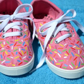 DIY Sprinkle Shoes (with free cut file!)